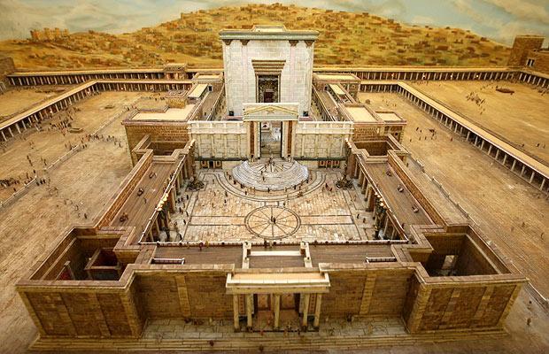 Artist depiction of the temple at Jerusalem