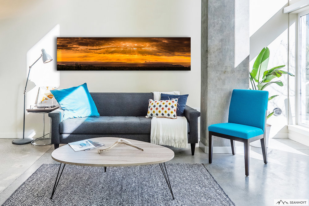 Add massive color and intrigue to your room with a large panoramic acrylic print.