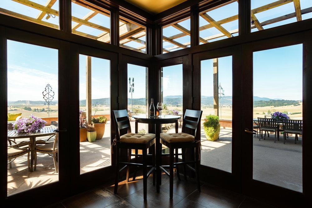 Van Duzer Vineyards Tasting Room View