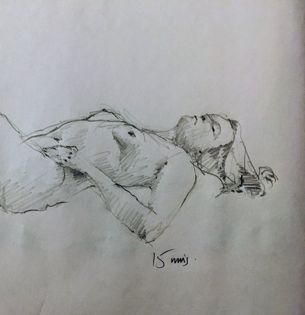 Figure Drawing.  Michele Clamp