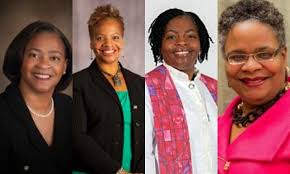 History in the Making   Four African-American women were elected as bishops at quadrennial meetings of the United Methodist Church in 2016. Further removing the glass ceiling for Black women in the denomination.   Bishop Sharma Lewis    Bishop Tracy Smith Malone    Bishop Cynthia Moore-Koikoi    Bishop LaTrelle Easterling