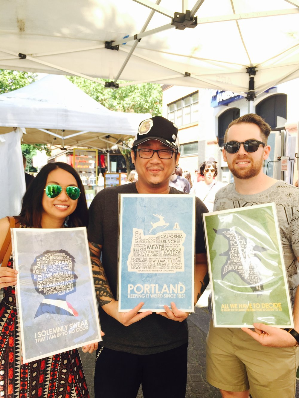 If you get a chance to visit Portland's Saturday Market, stop by to see artist Stephen Poon and his awesome posters. If you're not in the area, check out his store at www.outnerdme.com.