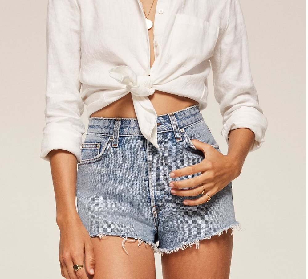 Jean Shorts by Reformation