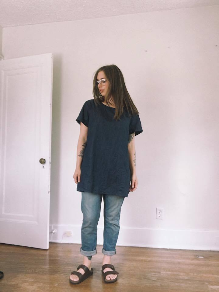 Top & Jeans: Thrifted / Shoes: Birkenstocks