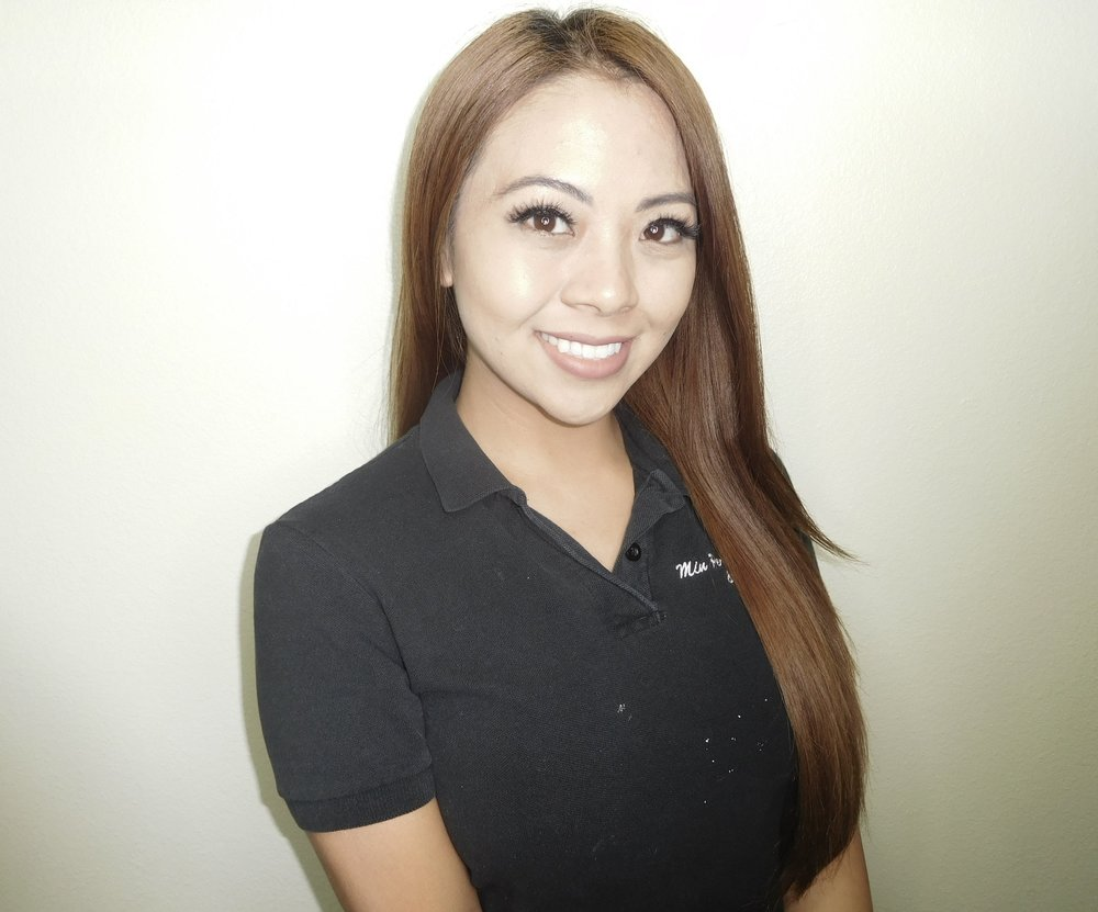 Geraldine - Geraldine graduated at Euphoria Institute of Beauty Arts and Sciences in 2010. Since then, her passion for skincare has motivated her desire to continue learning and enhancing her skills in utilizing proper skincare techniques to help restore and rejuvenate your skin. Geraldine applies her knowledge to not only help her clients immediate skincare concerns but to ensure they have lasting results of flawless skin.After specializing in skincare for four years, she enrolled into an apprenticeship program for permanent makeup under Min. Now, certified with her Nevada Health District Body Art Card she uses patience and close attention to detail to help her succeed in this tedious trade. As she continues to gain experience under Min, Geraldine confidently takes initiative to further her education as much as possible in the beauty industry.