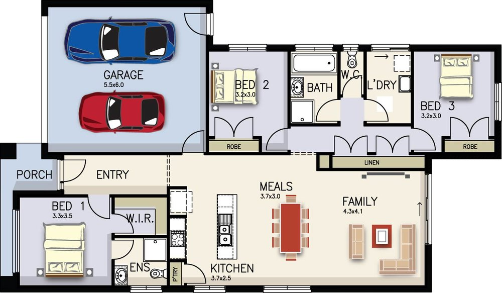 Rose Floor Plan by  Yum Homes
