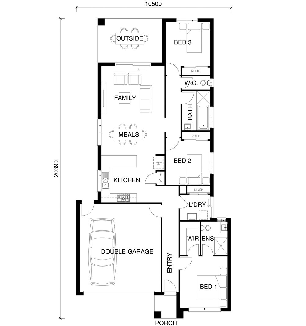 Dove Floor Plan by  Yum Homes