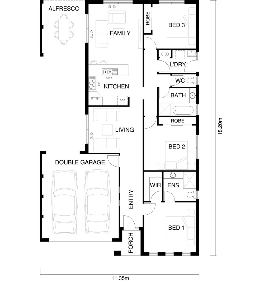 Romeo Floor Plan by  Yum Homes