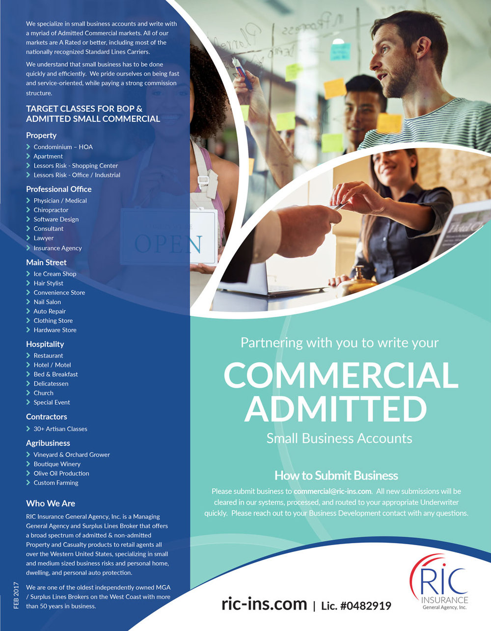 Flyer for RIC Insurance