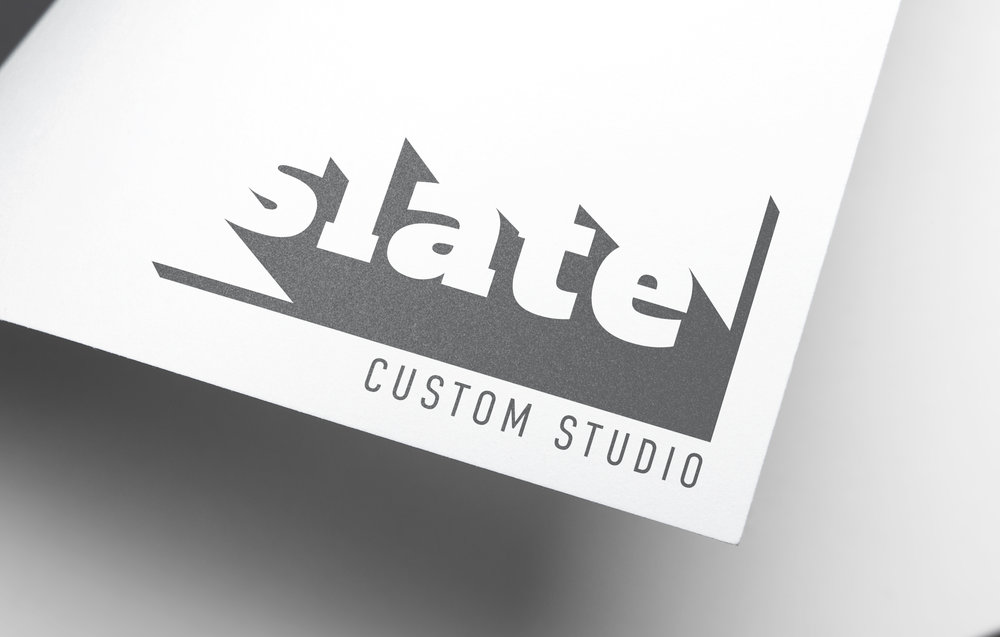 Slate logo, designed for Interior Office Solutions' custom division (Rebranding project)