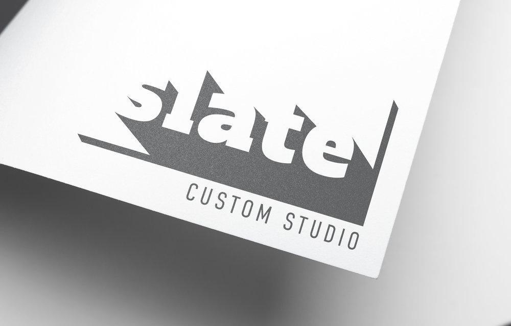 Slate logo, designed for the re-branding of Interior Office Solution's custom division