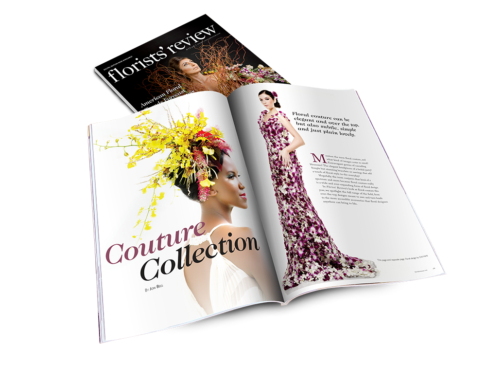 Florists' Review  July 2018 –  Click here to see more work I did for Wildflower Media.