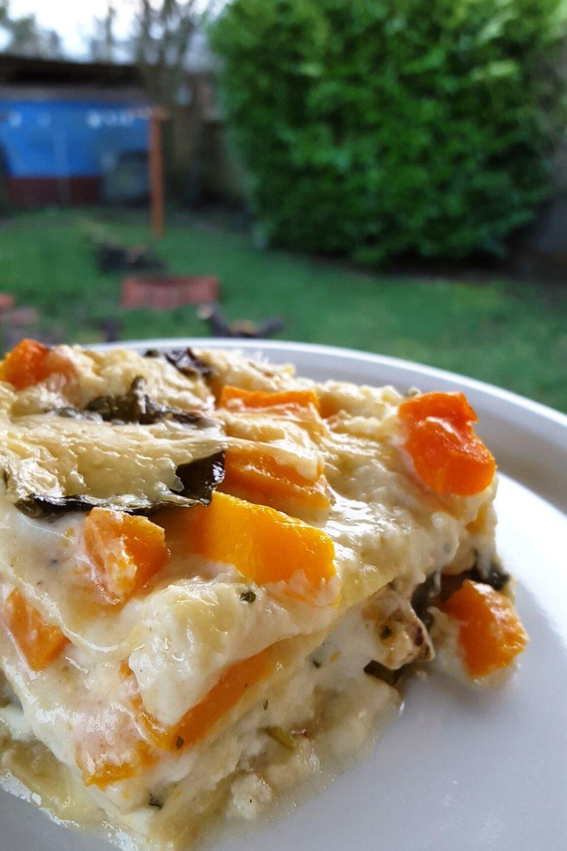 Butternut Spinach Lasagna w/Parmesan Bechamel