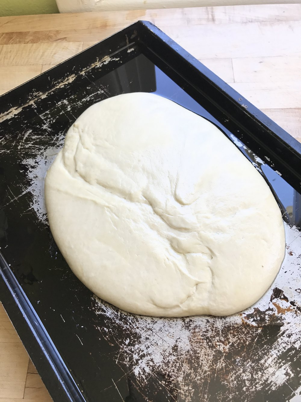 - This dough is very wet and should almost