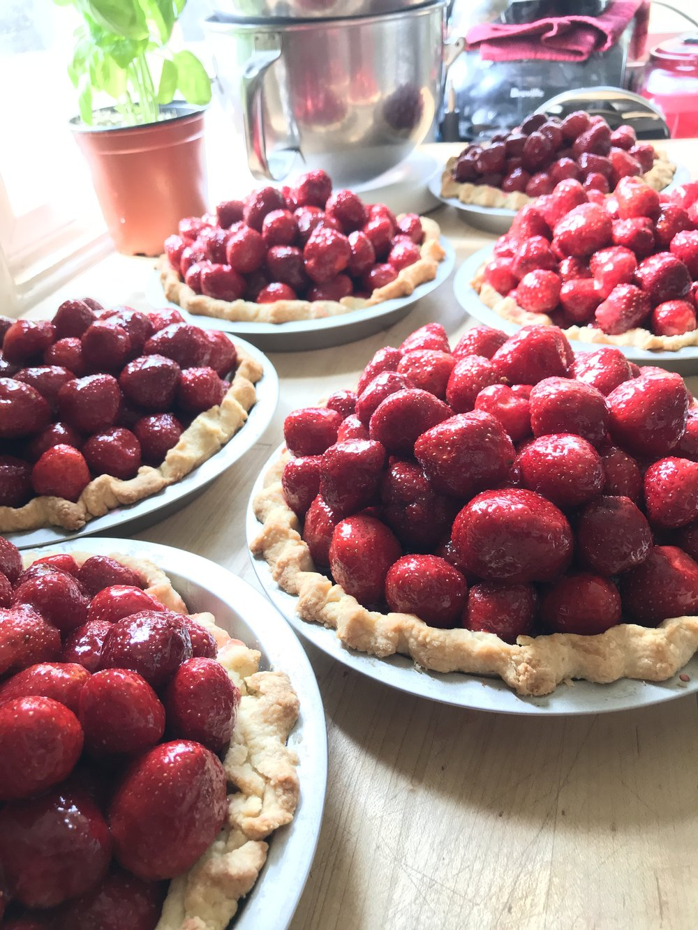 Fresh Local Strawberry Pies
