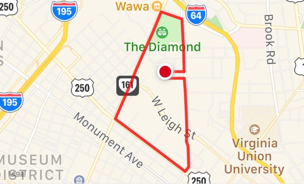 Our 3 mile route.