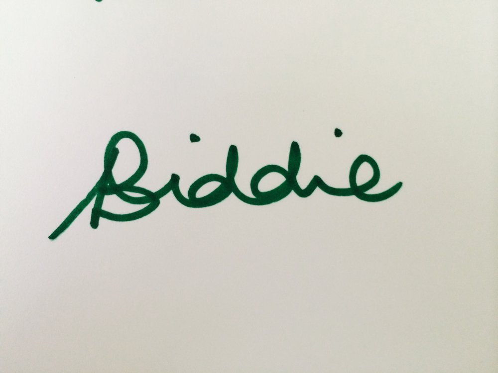 Biddie sign.JPG