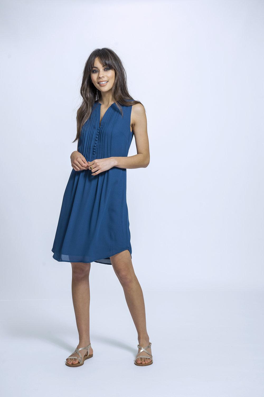 Wendy Maxi | Dusky Blue Floral