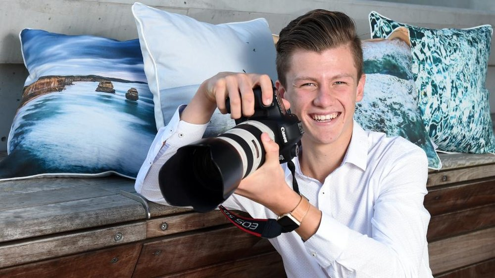 HERALD SUN - 'Josh Brnjac leaves school at 15 to focus on flourishing photography business' -