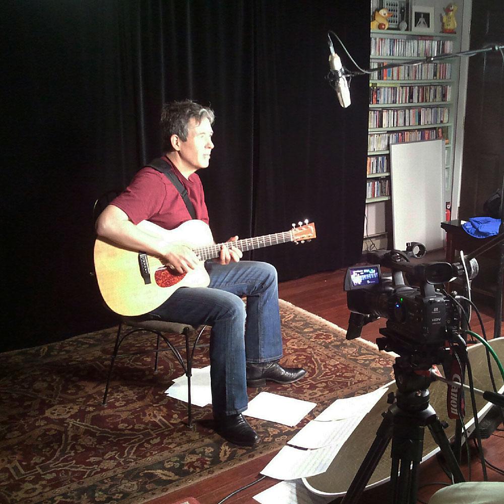 Filming a DVD for Homespun