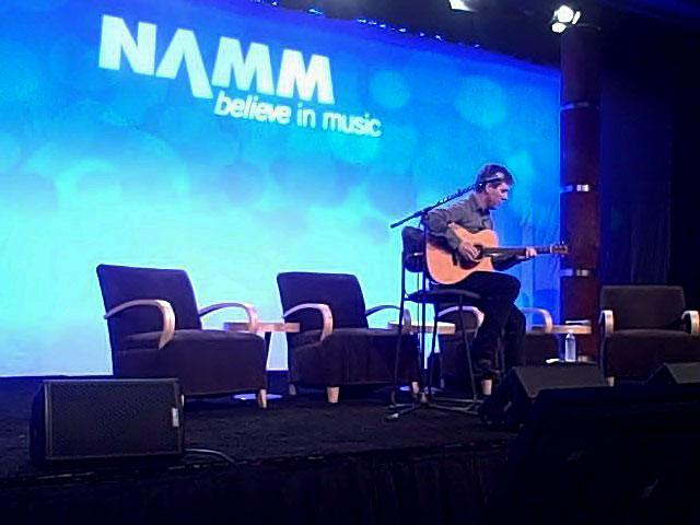 Performing at NAMM