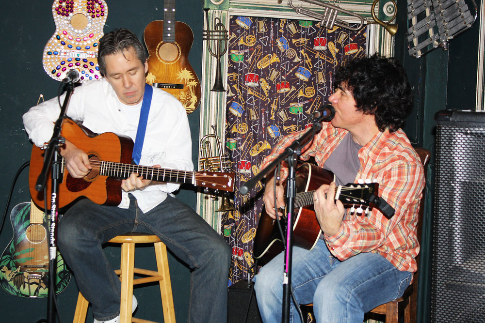 Performing with John Oates in Carbondale, CO captions for numbered photos 1