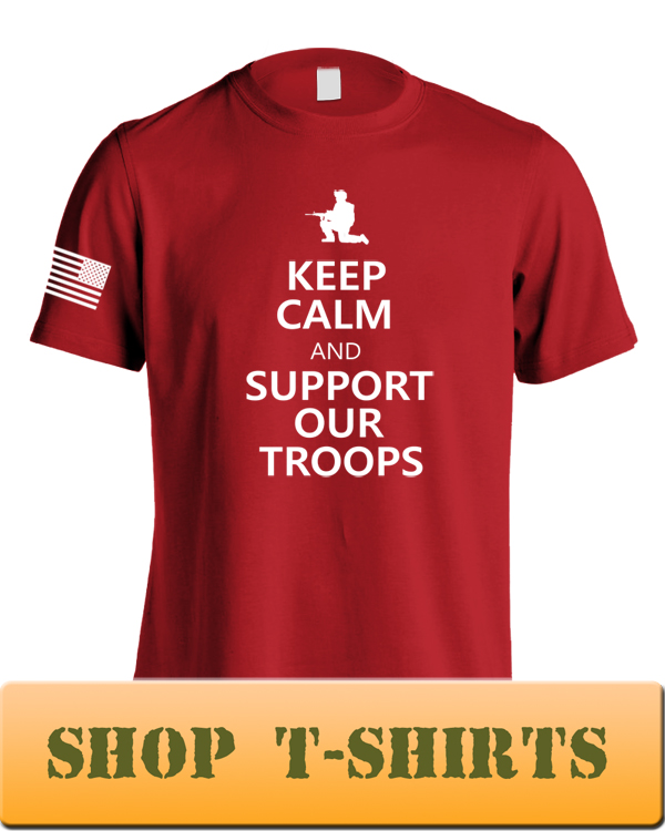 Keep Calm and Support Our Troops Red T-Shirt Mockup A 450 12 x 16 .jpg