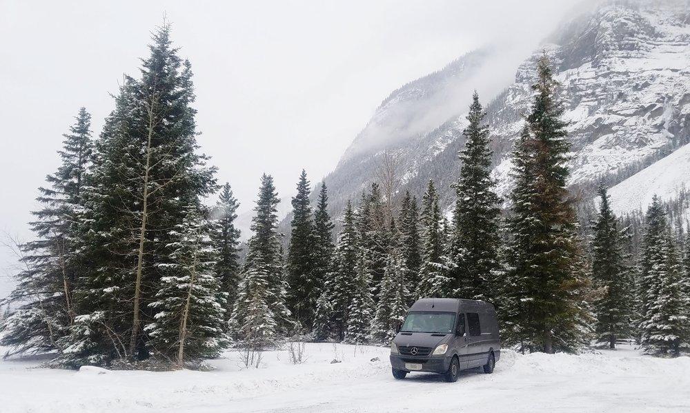 - Snowy Drive Through Glacier & Banff