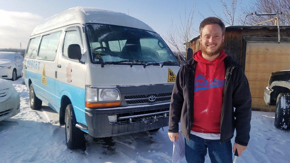 Riley and his van