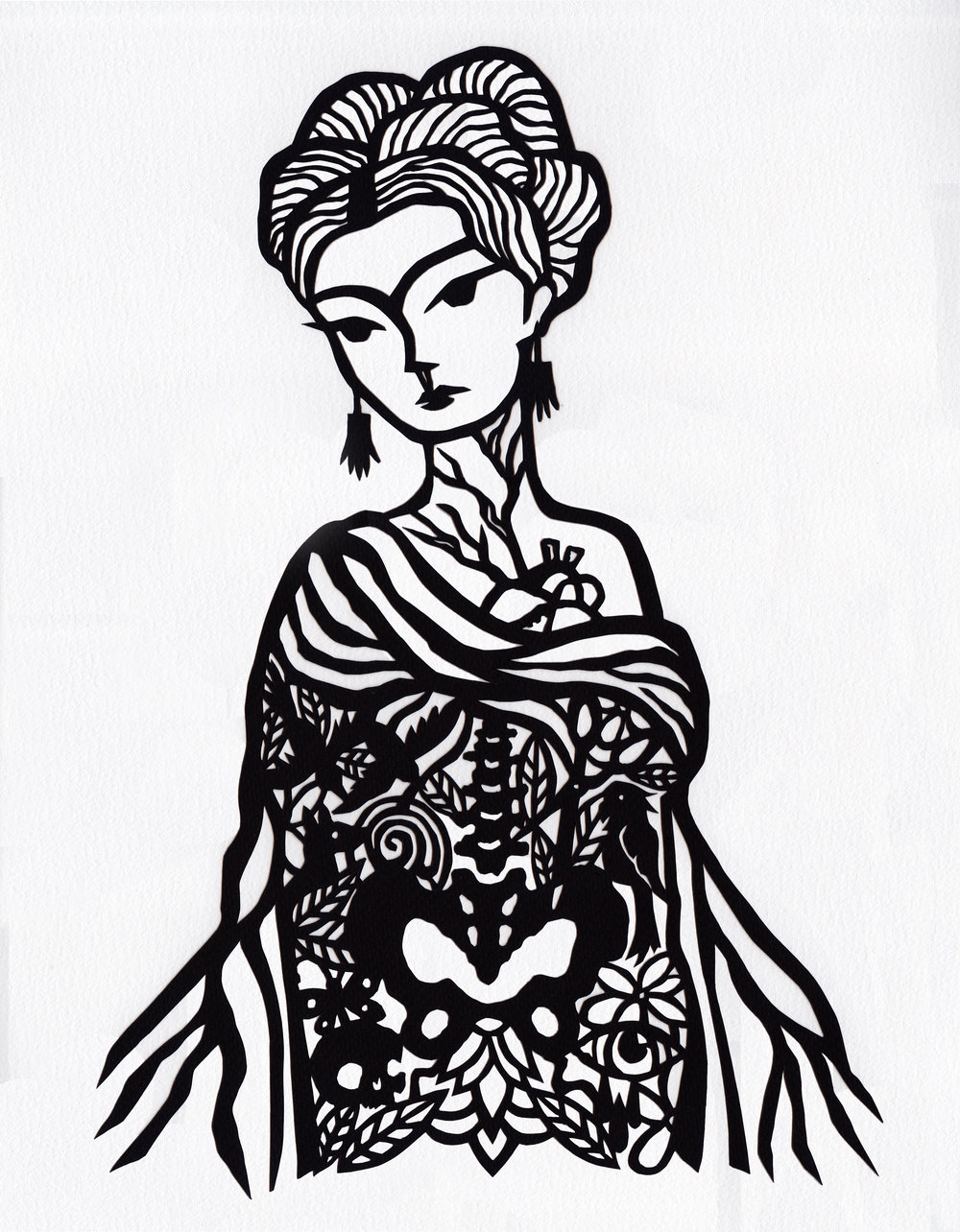 SIN COMPLEJOS  Hand cut paper