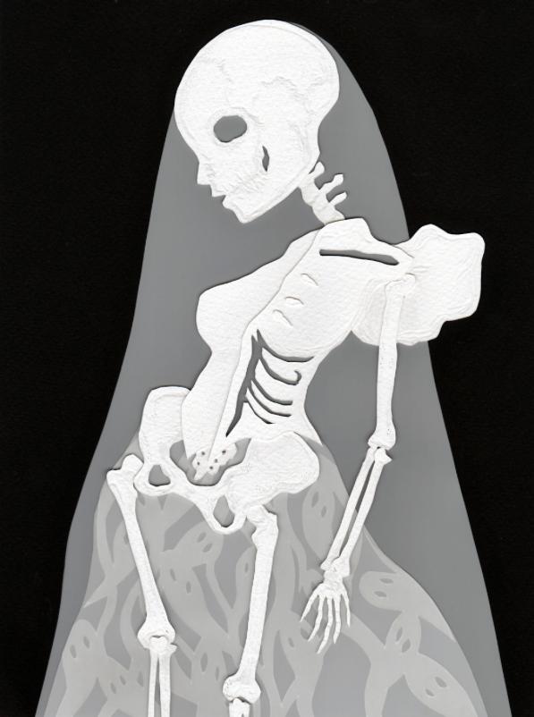 "Blight  Hand cut paper and vellum Hudson Hughes Gallery ""3 A.M."""