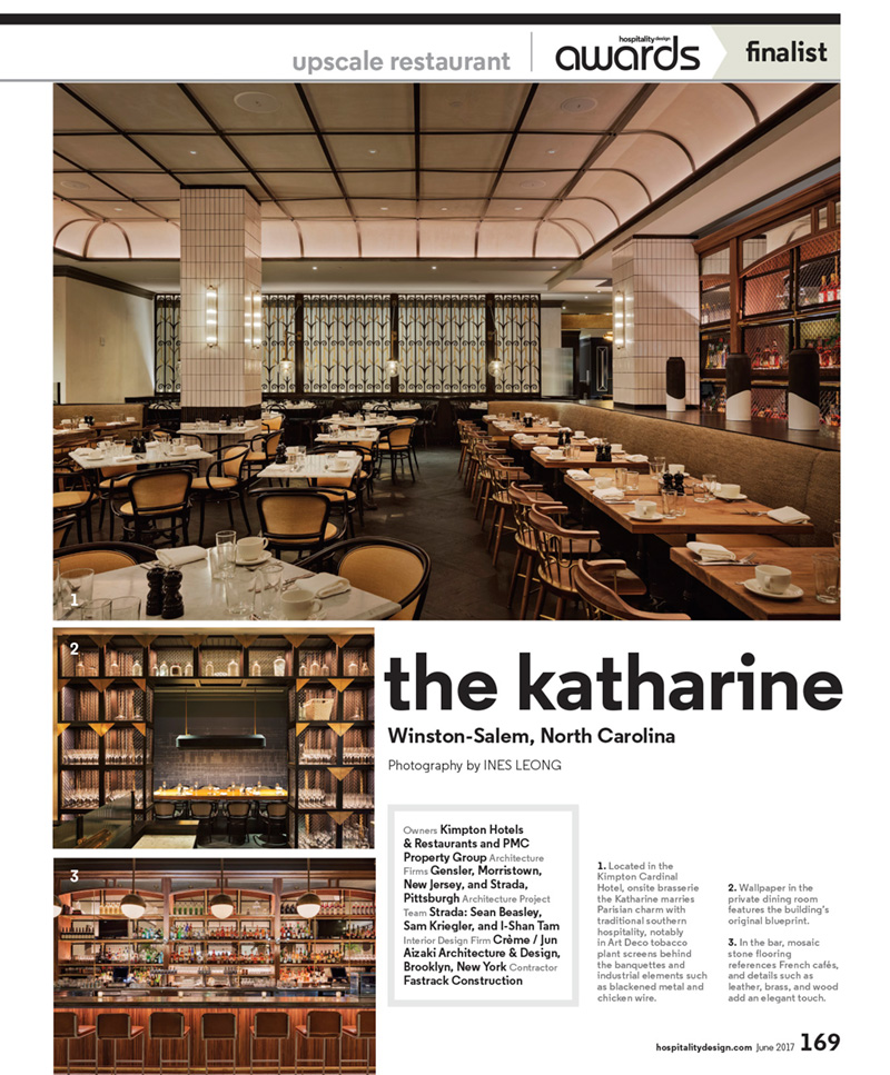 - Extra! Extra! Read all about it! Katharine by CRÈME was selected as a finalist for