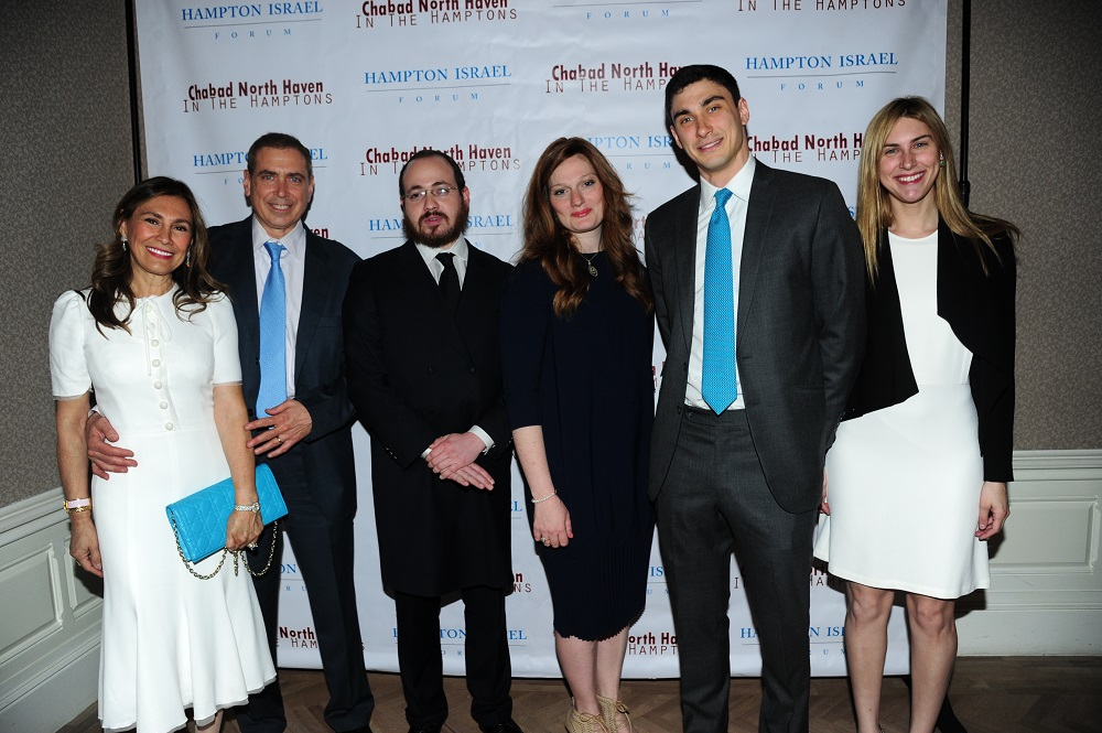 Maria and Ken Fishel, Rabbi Berel and Brocha Lerman, Bradley and Melissa Fishel