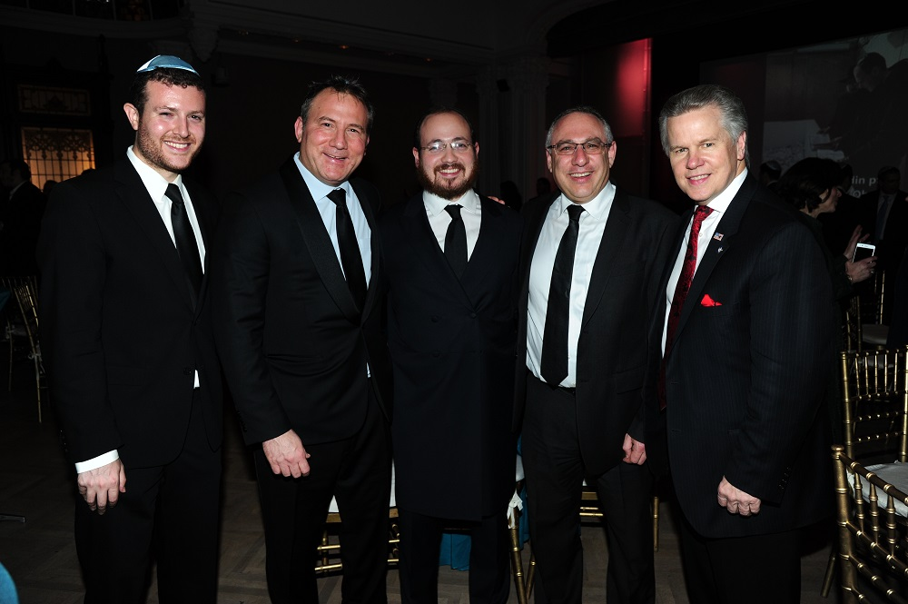 Andrew Gross, Adam Weiss, Rabbi Lerman,  Amir Sagie - Deputy Consul General of Israel in NY