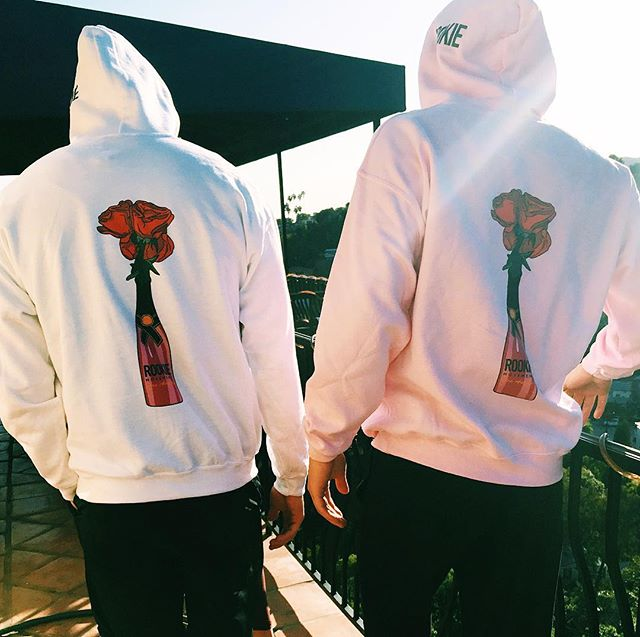 Pink & White ROOKIE hoodies on sale TODAY ONLY - link in bio