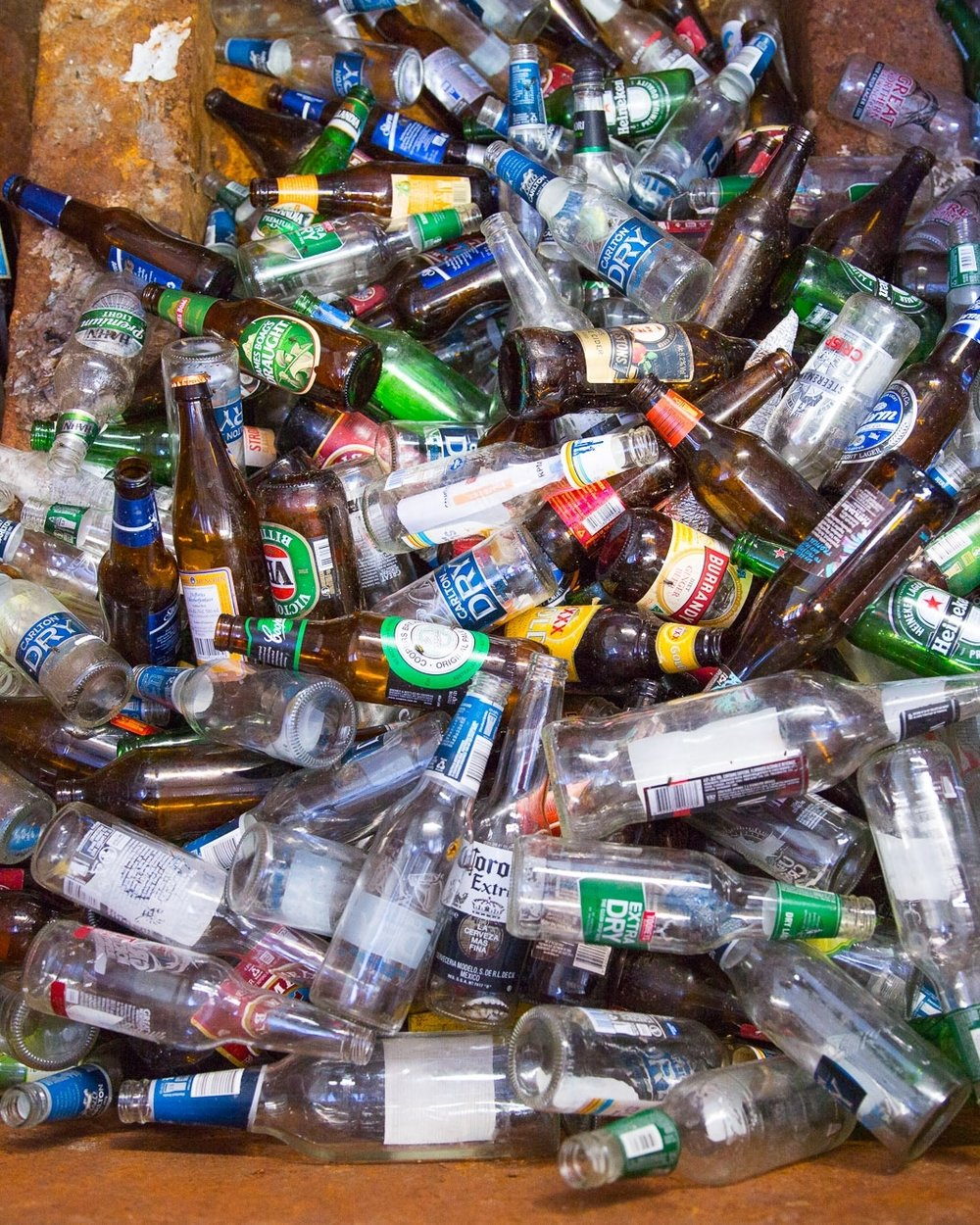 Glass Bottles & Jars: Never - Glass bottles and Jars NEVER break down. But they can be recycled in so many ways. Sending a glass jar to landfill instead of putting it in the recycle bin is literally the same as dropping it on the ground and knowing it will be there forever.