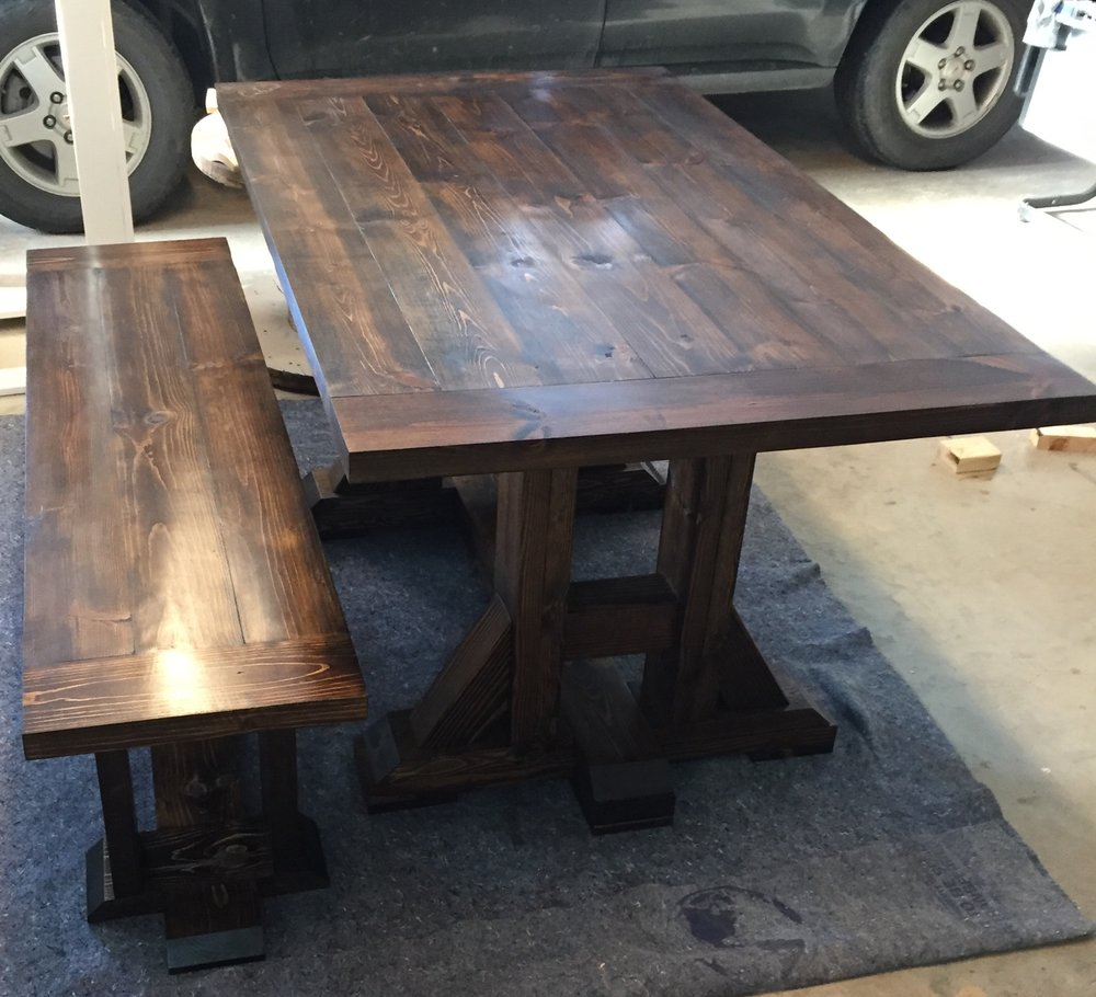 Farmhouse Table + Bench