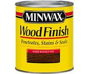 2. Stain - If you don't already have an arsenal of stain, there are lots of options at home improvement stores or Walmart. This sign was stained in Minwax Dark Walnut color. TIP: Wearing gloves, stir the stain well. Use an old rag or cut up t-shirt to wipe on the stain. Wipe the excess off with a paper towel or shop towel and let it dry over night. Toss the gloves and rag in the trash.