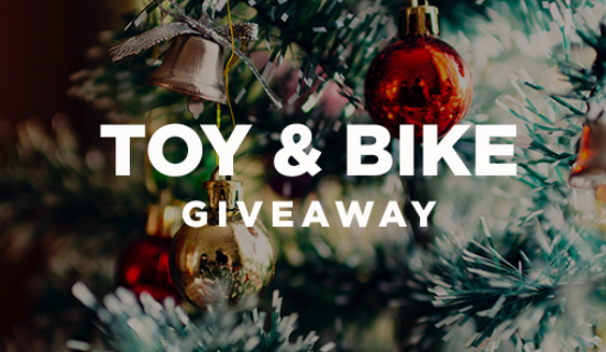 Annual Toy & Bike Giveaway - We are now accepting reservations for our Toy & Bike Giveaway at every Sunday and Wednesday service. Bikes are for children ages 6 - 12 and all children will need to be present on Sunday, December 16th to pick up their bikes.