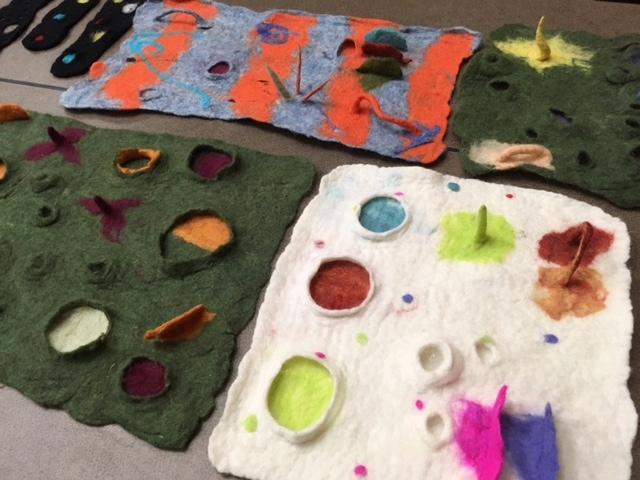 Textural Wet Felting Samples