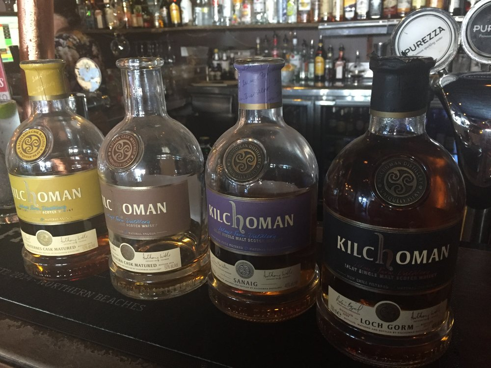 Kilchoman tried was the brown bottle second to the left, Madeira cask matured.