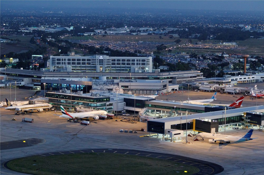 Melbourne Airport with two 3.5 MW HUNT TNAR HTHW boilers