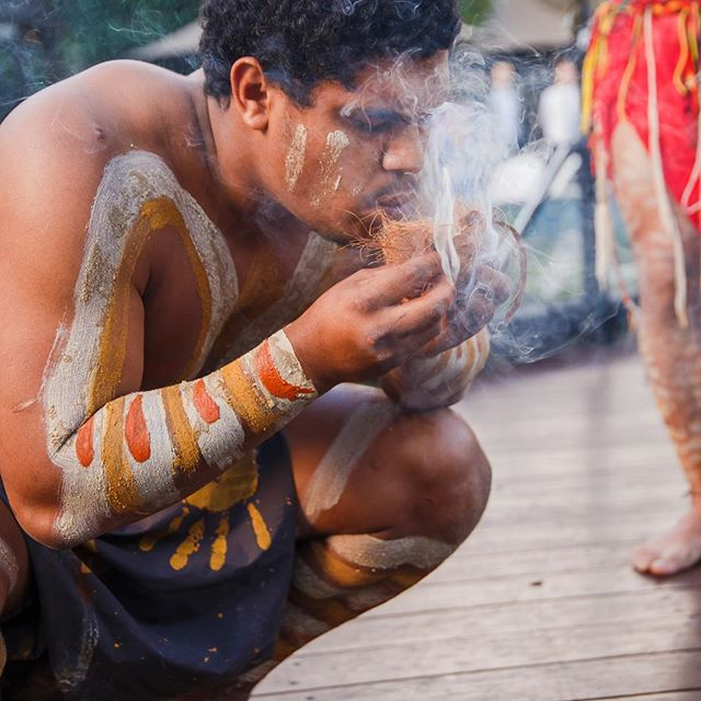 "Balang yugari darlo nguru 🔥strong maker of Fire spirit Happy Birthday to Una Duanjal, my younger brother, Yerongpan Yidaki player, our didgeridoo player 🌈 ""stand strong n keep the fire burning, stick together gotta keep the wheels turning, forcing companies to stand aside, forcing governments to recognise the power of this tribe! In my darkest hour, in my darkest day, your spirit held me tight, through the retched days and nights. And I believe in you."" Nana - Xavier Rudd #keepthefireburning #indigenousaustralia #yerongpan"