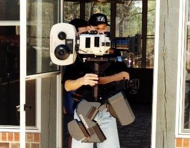 Panaflex 35mm film camera op een Steadicam Master series   (Atlanta 1997)