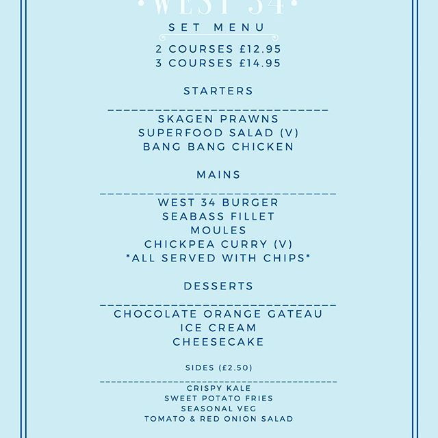 BIG NEWS FOLKS - For the next two weeks our revamped set menu is available ALL DAY Tuesday - Friday! 🍽🍾🥂#deal #food #delicious #yum #westkirby #eat #new #winter