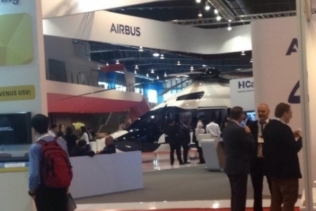 Exhibitors included such names as Bell helicopters, Airbus helicopters or Sikorsky