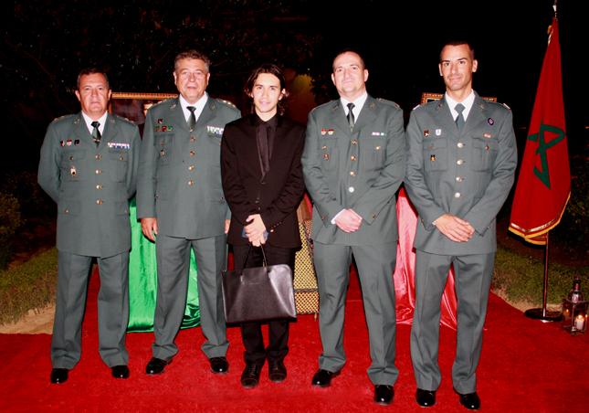 Francisco José Pavón Chisbert. Editor-Director de la Revista Pasarela de Asfalto junto a altos mandos de los Cuerpos y Fuerzas de Seguridad del Estado.