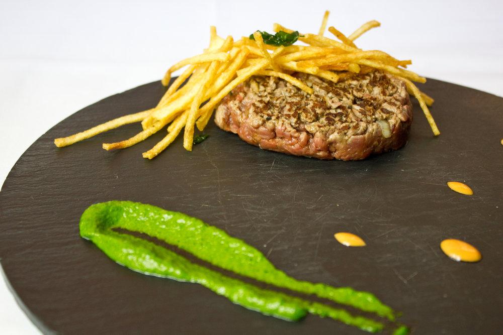 En fotografía:Steak Tartare