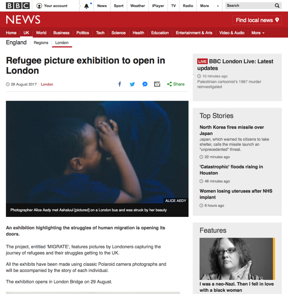 Coverage by BBC News