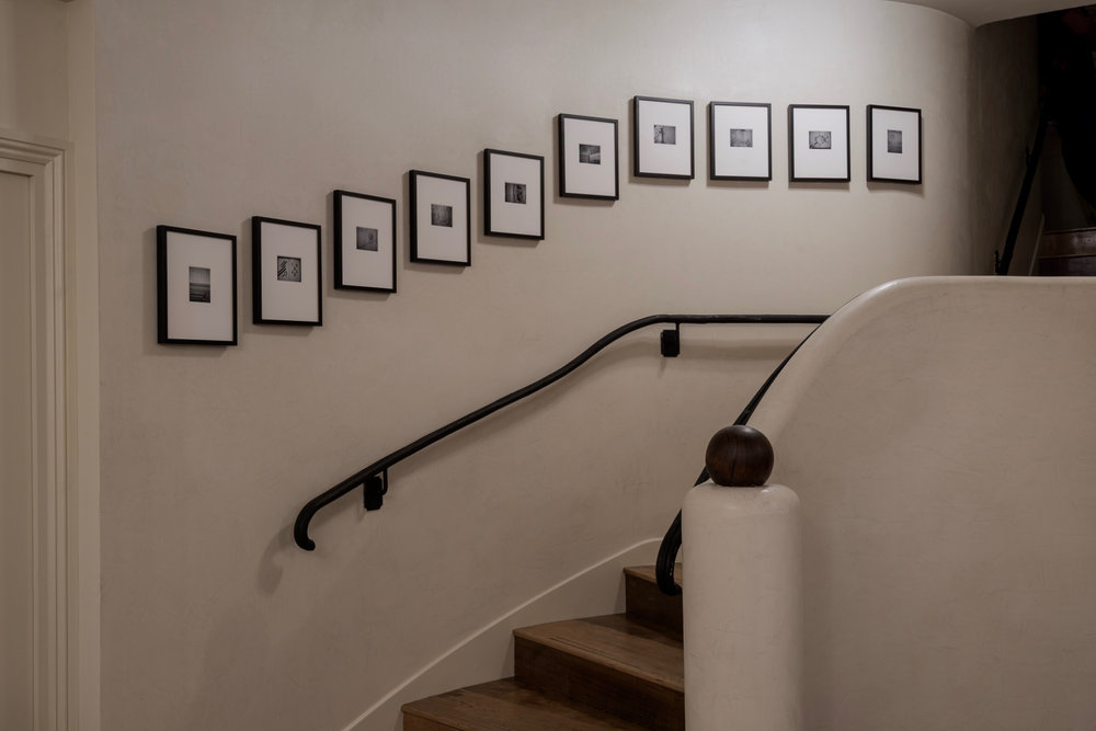 The photographs in situ at Soho House, 40 Greek Street in London